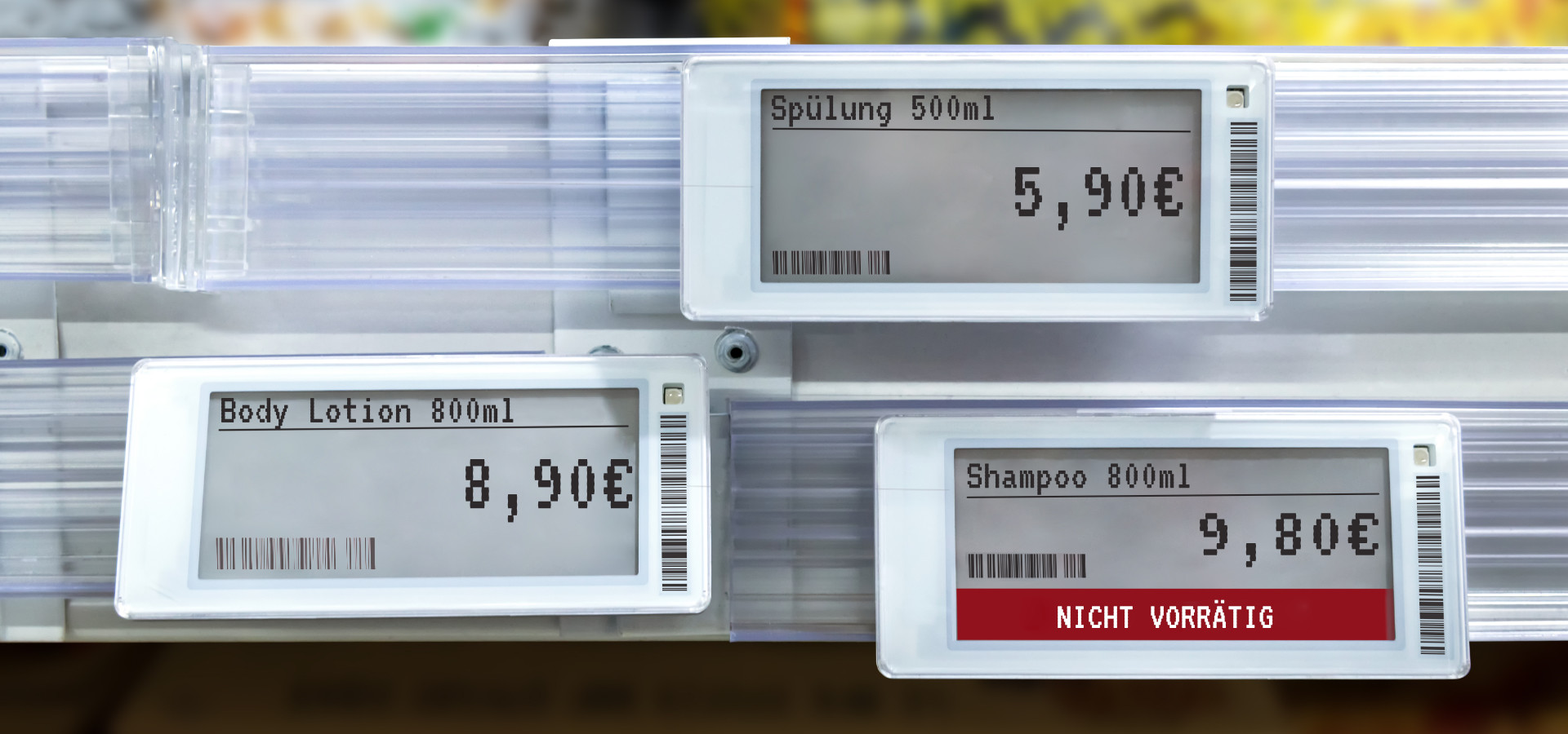 NFC displays with different prices at retail