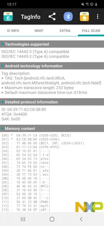 1. Android: Read the UID of an NFC tag