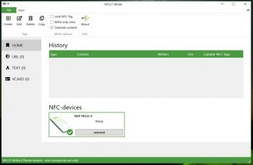 Start NFC21-Writer Software